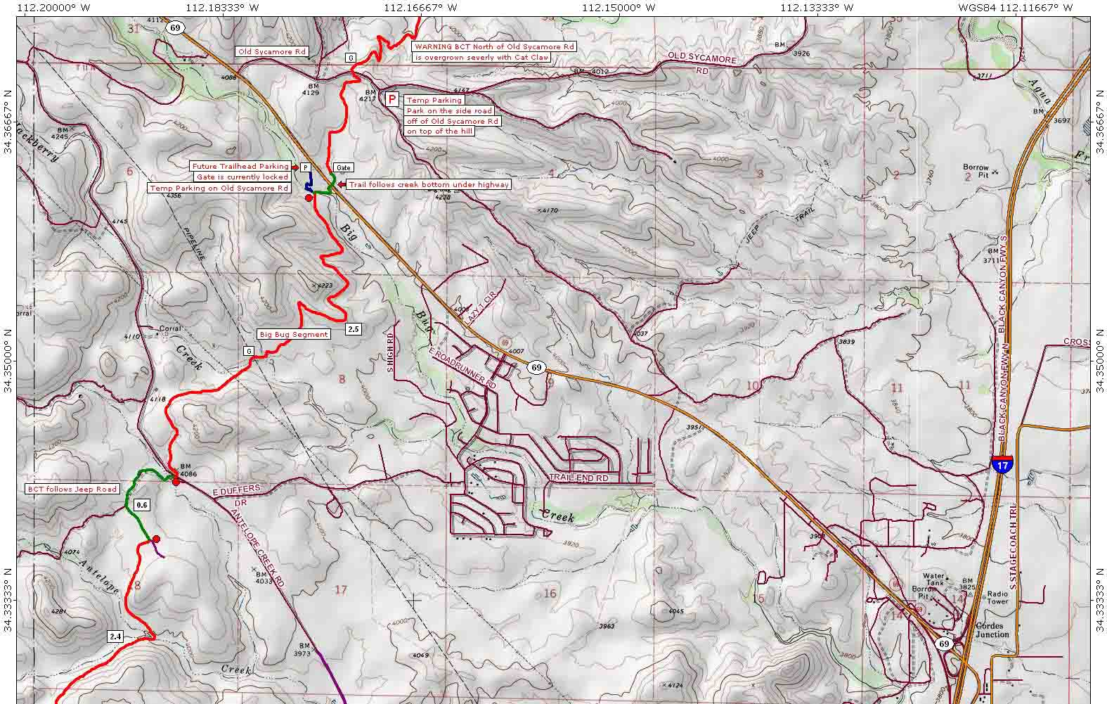 on canyons trail map